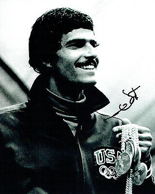 Mark SPITZ Autograph Signed 10x8 Photo AFTAL COA Gold Medal Swimmer
