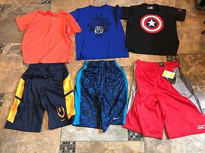 Lot Of boys Clothes/shirts(Nike, Under Armour)-size Large