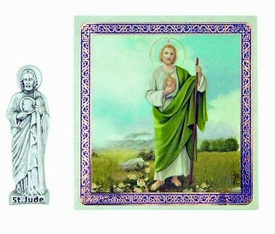 St. Jude Pocket Statue and Holy Card NEW SKU TC573