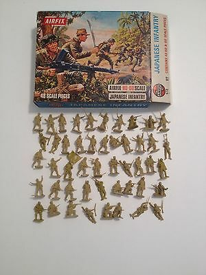 Airfix 01718 Japanese Infantry Serie Completa 48 Pezzi Con Scatola Scala H0