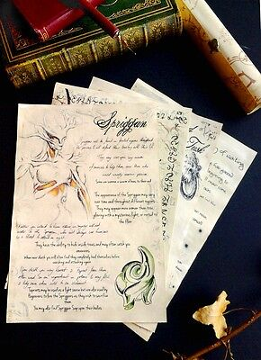 Creature and alchemy journal pages, inspired by elder scrolls and skyrim