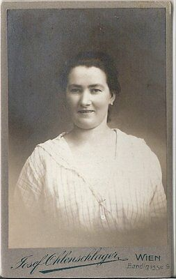 CDV photo Damenportrait - Wien 1910er