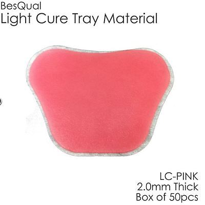 Dental Light Cure Custom Tray Material BQ-Tray Pink 50/box 2.0mm Thickness