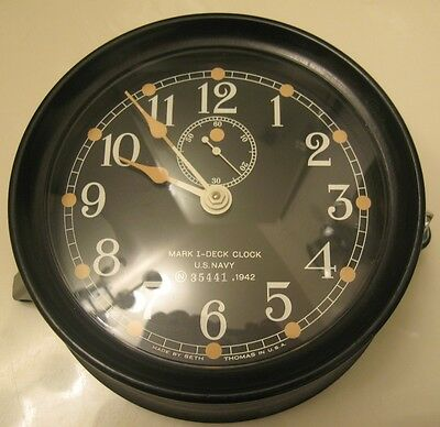 Seth Thomas Mark I U. S. Navy Deck Clock