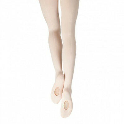 Capezio Women's Ballet Pink Mock Seam Transition Tights - Size Large/X-Large