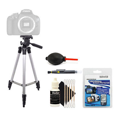 Tall Tripod + Cleaning Accessory Kit for Canon EOS Rebel T5 T6