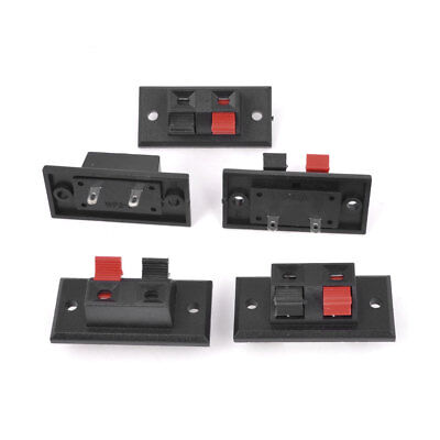 5Pcs 2 Way Screw Mounting Stereo Speaker Plate Connector Block