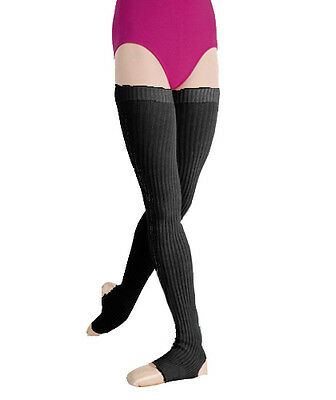 Womens Body Wrappers 36'' Black Stirrup Leg Warmers