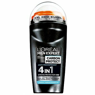 2296 L'oreal Men Expert - Desodorante roll - on, (6 x 50 ml)