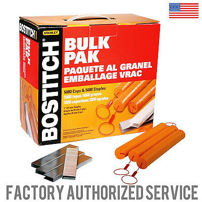 BOSTITCH CAPPAK-5M 1 in Caps and Staples for SL1838BC or SB150SLBC 5000 count!!!