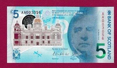 Bank of Scotland £5 POLYMER in COLLECTORS PACK - AA003056 *QWC* -ONLY 1000 PACKS