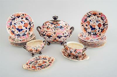 English porcelain china dinner set in the Japan Pattern very rare 19th Century