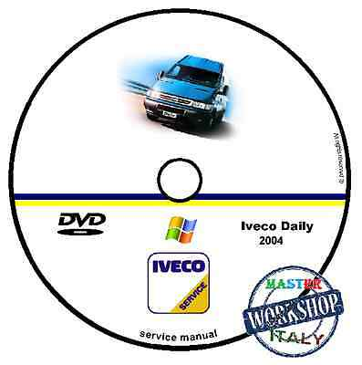 Manuale Officina Fiat Iveco Daily 2004 Workshop Manual Service Cd Dvd