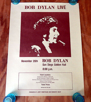 Bob Dylan  -  The Gospel Tour  -  Original Rolled Rock Concert Poster (1979)