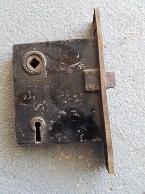 Vintage Norwalk Lock Co Mortise Brass Finish Lock Set