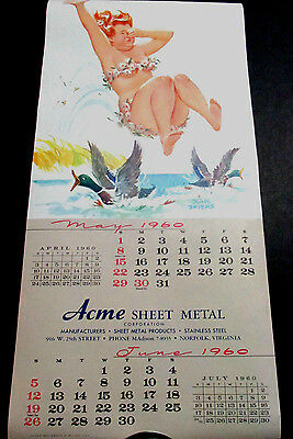 D Bryers Hilda May/june 1960 Pinup Calendar Page