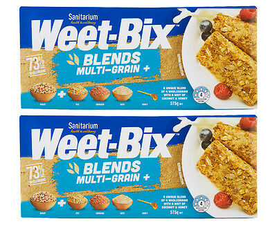 2 x Sanitarium Weet-Bix Blends Multi-Grain 575g