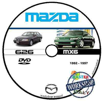 Manuale Officina Mazda 626 Mx6 1992 1997 Workshop Manual Service Dvd Cd
