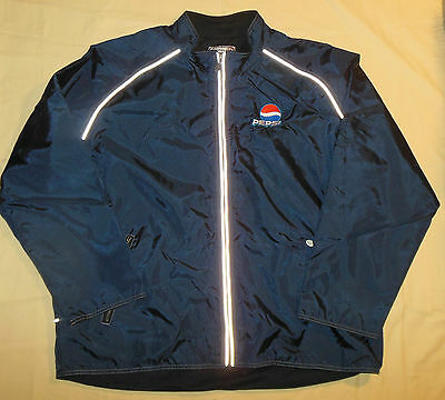 Boardroom Brand Pepsi Cola Heavy Nylon Zipper Jacket Mens XL Mesh Liner Blue