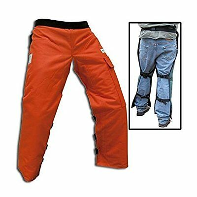 """Chainsaw Apron Chaps with Pocket Orange 37"""" Length Protective Work Gear Coverall"""
