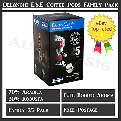Coffee Capsules Pods Machine Delonghi Automatic 25 Pack Pod Espresso Blend New