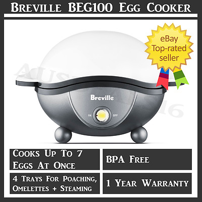 Egg Cooker Eggs Poacher Breville Fast Electric Automatic Boil Stainless Steel