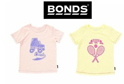 BONDS BABY GIRLS TEE Tshirt Top Short Sleeve Cotton Logo Signature Basic BYWYA