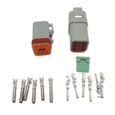 Deutsch 1 sets Kit DT 6 Pin Waterproof Electrical Wire Connector plug 22-16AWG