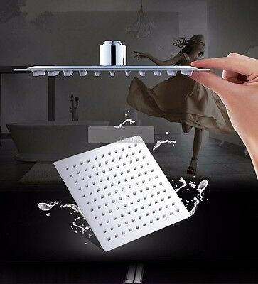 """New 8"""" Stainless Steel Square Shower Head Over-head Rainfall Faucet Top Bathroom"""