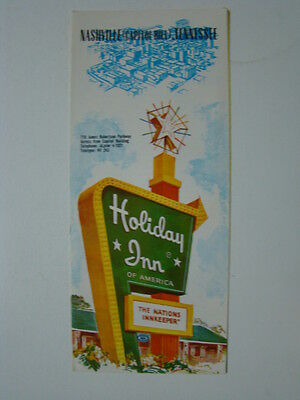 Holiday Inn Nashville Tennessee 4 x 9 Fold Out Brochure 1950's