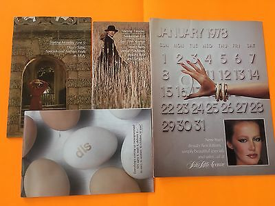 4 Vintage 1978 1970s Lot Saks Fifth Avenue Catalog Clothing Beauty