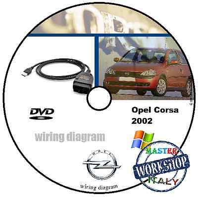 Wiring Diagrams Opel Corsa 2002 Manual Service Manuale Officina Cd Workshop