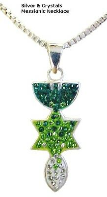 Messianic Necklace Silver & Crystals