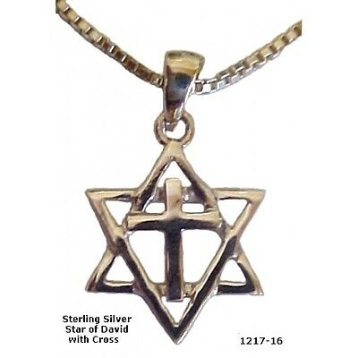 Ornate Silver Star and Cross