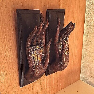 Vintage Wood Hand Art Carved Buddha Wall Hanging Sculpture Home Decor New #1