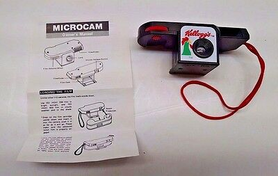 Kellogg's Camera Vintage Cereal Advertising 110 Microcam & Orig. Owner's Manual