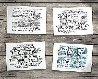 Gift Set THE SMITHS Oversized Postcards & Art Folder Album Lyrics Poster Prints