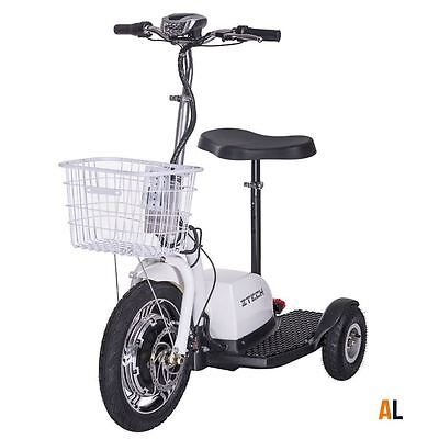 Scooter eléctrico Scooter Scooter 3 Wheeler Trike Cesto Adulto Asiento 16 km/h