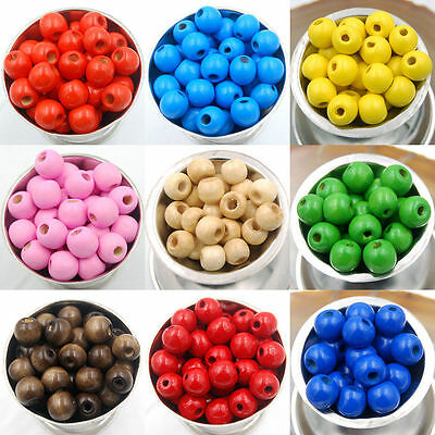 1000Pcs Wood Round Loose Spacer Charms Beads Jewelry DIY 5.5x3mm Wholesale