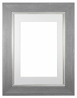 Shabby Chic Picture frame,photo frame,poster Grey/Dark Grey with Bespoke Mount