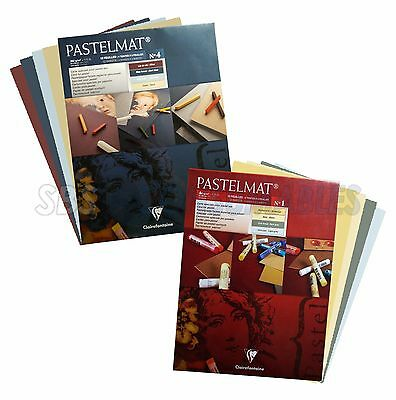 Clairefontaine Pastelmat Art Card Pads 12 Sheets 360gsm Coloured Card For Pastel