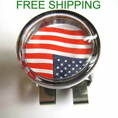 Universal tractor Forklift Steering Wheel Spinner Knob With USA Flag Photo Insid