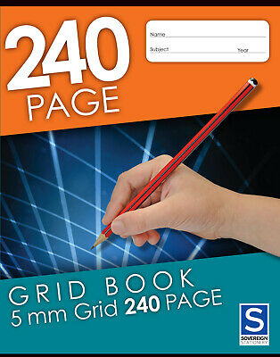 Sovereign Grid Book 225x175mm 5mm Grid 240 Page -5 Pack