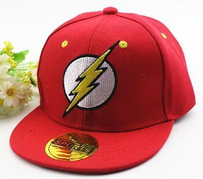 Kids Boys The Flash Snapback Baseball Cap Hat Adjustable Gift Accessory