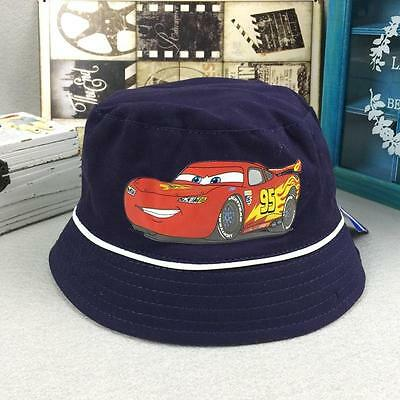Kids Boys Cars Toddler Sunny Buckler Bucket Cap Round Hat 2-8 Years