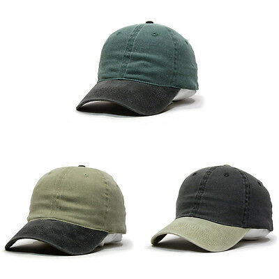 NEW Flex Stretchable Washed Pigment Dyed Cotton Twill Low Profile Caps Dad hat