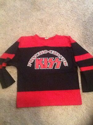 KISS Psycho Circus Concert Tour Hockey Jersey Shirt XL Vintage ~ Red Black