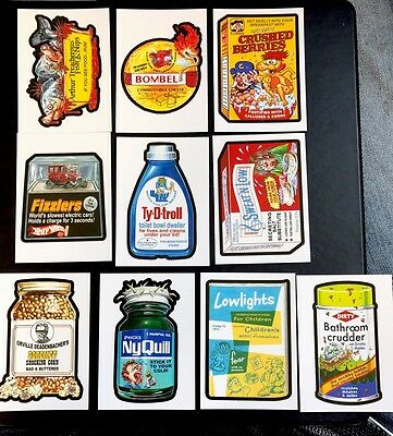 2017 Topps 50th Anniversary Wacky Packages Complete OLD SCHOOL SET 10/10