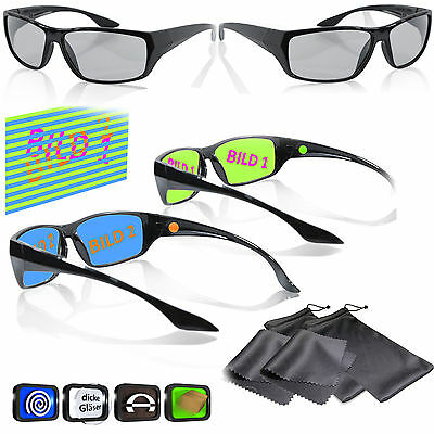 Gaming Glasses Black - For LG Dual Play Philips Fullscreen Gaming Sony SimulView
