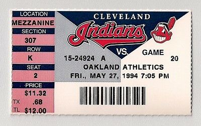 JIM THOME Career Home Run HR #15 Cleveland Indians vs Oakland A's May 27 1994